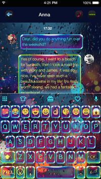 Luminous Emoji Keyboard Theme poster