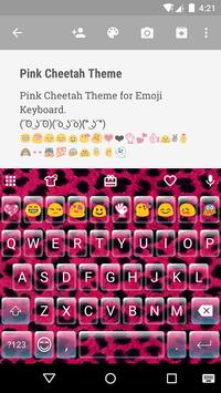 Pink Cheetah Emoji Keyboard poster