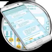 SMS Messages Blue Cloud Theme icon