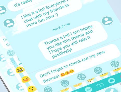 SMS Messages Blue Cloud Theme apk screenshot