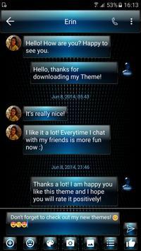 SMS Messages Dusk Blue Theme apk screenshot