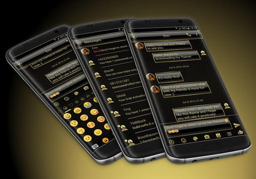 SMS Messages Frame Gold Theme poster