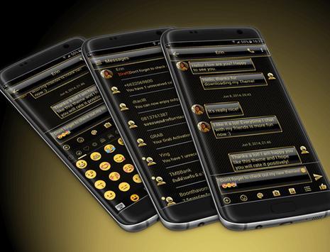 SMS Messages Frame Gold Theme apk screenshot