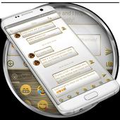 SMS Messages Frame White Gold Theme icon
