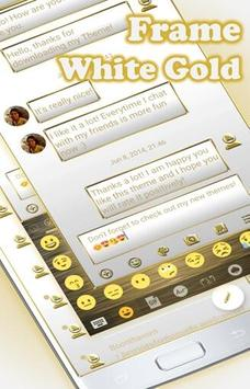 SMS Messages Frame White Gold Theme screenshot 4