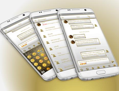SMS Messages Frame White Gold Theme screenshot 7