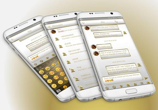 SMS Messages Frame White Gold Theme poster
