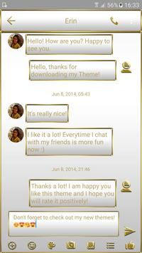 SMS Messages Frame White Gold Theme screenshot 1