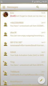 SMS Messages Frame White Gold Theme screenshot 2