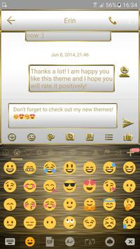 SMS Messages Frame White Gold Theme screenshot 3