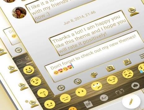 SMS Messages Frame White Gold Theme apk screenshot