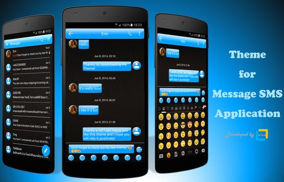 SMS Messages Gloss Azure poster