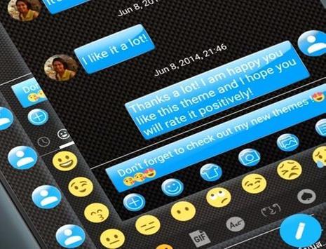SMS Messages Gloss Azure apk screenshot