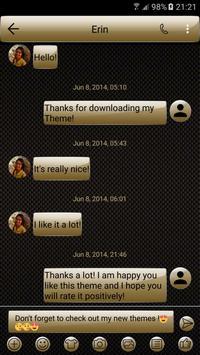 SMS Messages Gloss GoldBlack apk screenshot