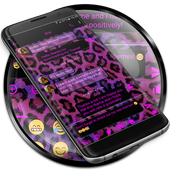 SMS Messages Leopard Pink icon
