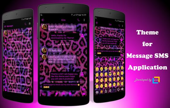 SMS Messages Leopard Pink poster
