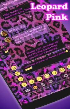 SMS Messages Leopard Pink apk screenshot