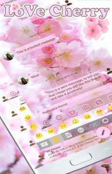 SMS Messages Love Cherry Theme apk screenshot