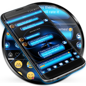 SMS Messages Spheres Blue Theme icon