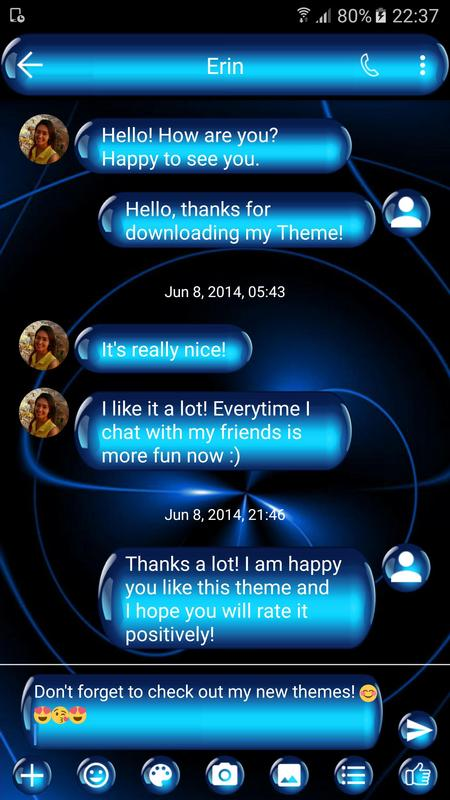 sms messages spheres blue theme apk download free personalization