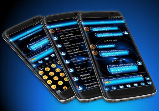 SMS Messages Spheres Blue Theme poster