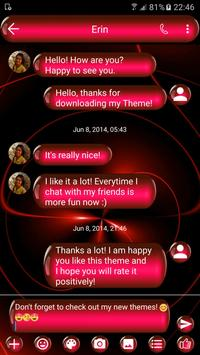 SMS Messages Spheres Red Theme apk screenshot