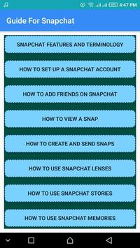 Guide For Snapchat Update poster