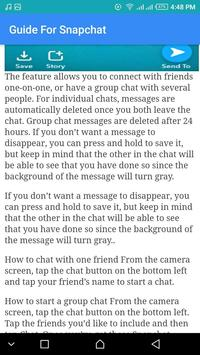 Guide For Snapchat Update screenshot 2