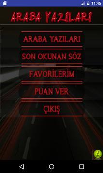 Araba Arkası Yazıları apk screenshot