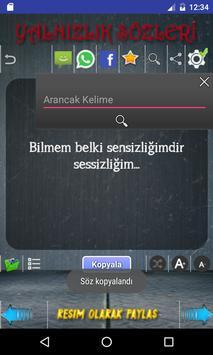 Yalnızlık Sözleri apk screenshot