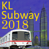 Kuala Lumpur (KL) MRT LRT Train Map 2018 icon
