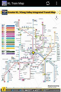 Kuala Lumpur (KL) MRT LRT Train Map 2018 poster