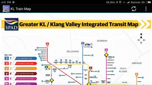 Kuala Lumpur (KL) MRT LRT Train Map 2018 screenshot 2