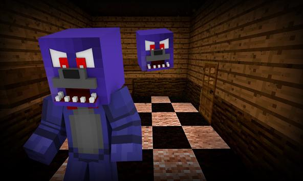 Map Five Nights Freddy of MCPE poster