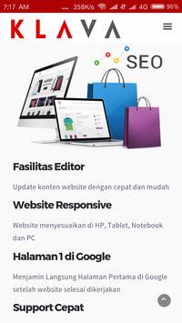 KLAVA - Jasa Pembuatan Website screenshot 1