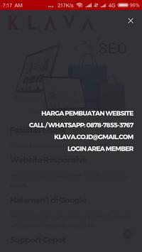 KLAVA - Jasa Pembuatan Website screenshot 2