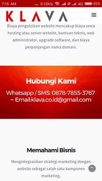 KLAVA - Jasa Pembuatan Website screenshot 4