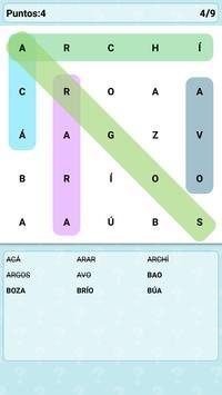 Word Search Games in Spanish apk screenshot