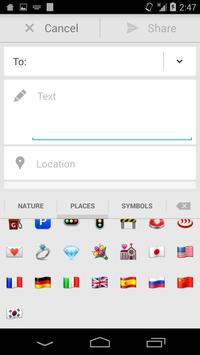 Sliding Emoji Keyboard - iOS screenshot 3