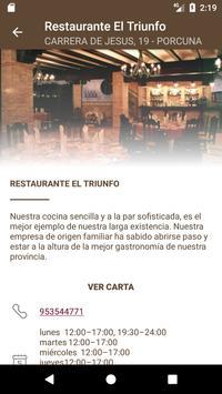 Restaurante El Triunfo apk screenshot