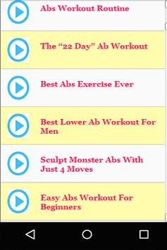 Best Ab Workouts For Men Apk Screenshot