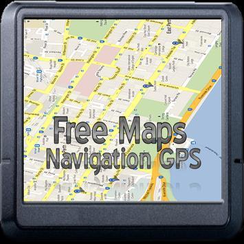 free maps navigation gps poster