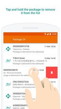 Ukrposhta, Nova Poshta parcels apk screenshot