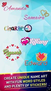 Name Art & Name Live Wallpaper poster
