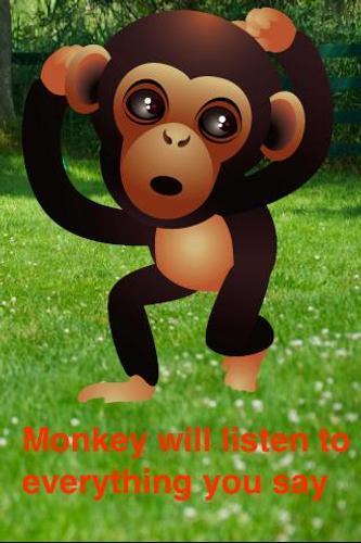 talking baby monkey poster