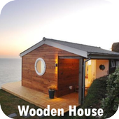 Wooden house icon