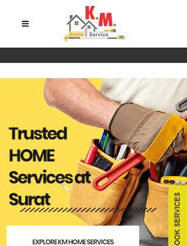 KM Home Service - Plumber, Electrician, Carpenter. poster