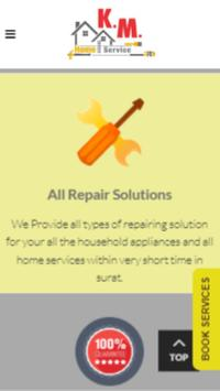 KM Home Service - Plumber, Electrician, Carpenter. apk screenshot
