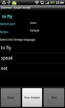 Interlex vocabulary apk screenshot