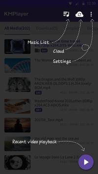KMPlayer (Play, HD, Video) apk imagem de tela